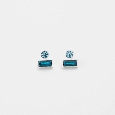 [쥬디앤폴] 뮤니 라운드 앤 렉탱글 귀걸이 E51406
