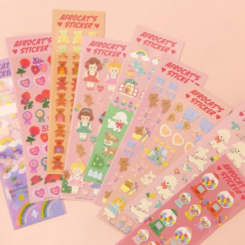 afrocat pearly sticker