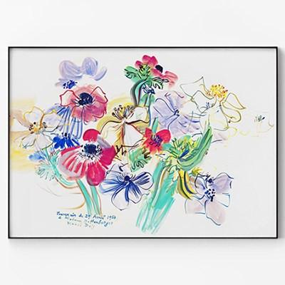 메탈 꽃 그림 일러스트 포스터 식물 액자 라울 뒤피 15