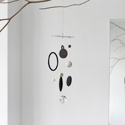 circular mini mobile - black