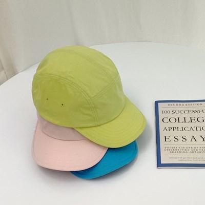 베이직 코튼 라벨 캠프캡 모자