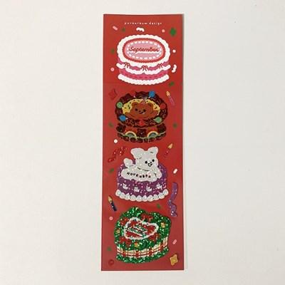 캘린더 케이크 4탄 홀로그램 스티커