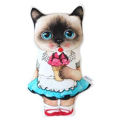 고양이삼촌 쿠션 - 아이스크림 클라우디