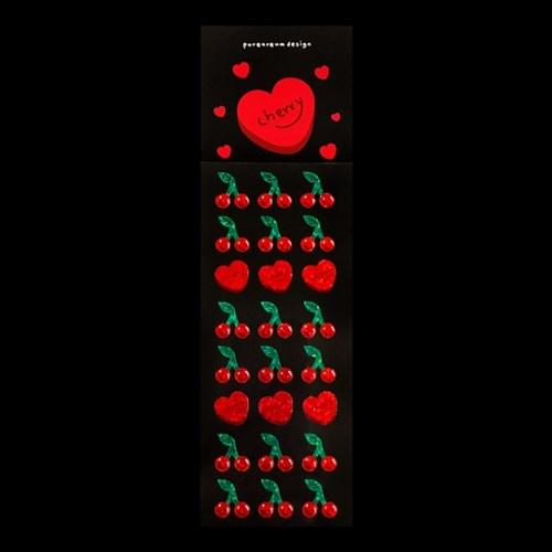 체리 홀로그램 스티커