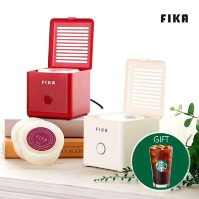 커피쿠폰증정 피카 T3 캡슐 캔들워머+캡슐캔들 2개+쇼핑백 세트