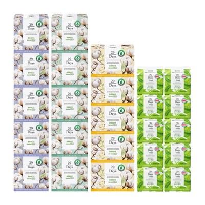 29Days 유기농생리대 중형5팩+대형5팩+오버나이트5팩+라이너10팩