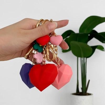 지갑 에어팟 키링 열쇠고리 조각 하트 pr-8127_(2628923)