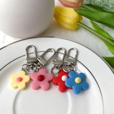 지갑 에어팟 키링 열쇠고리 실리콘 꽃 플리아 pr-8129_(2628921)