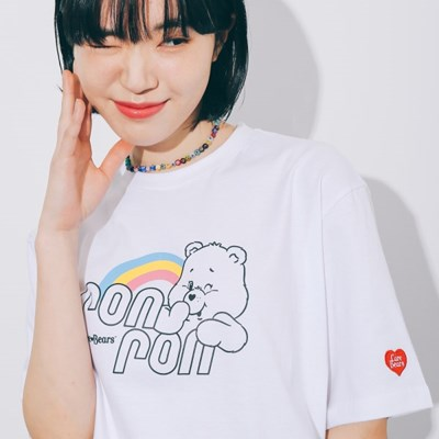 RONRON RAINBOW LOGO T-SHIRT WHITE