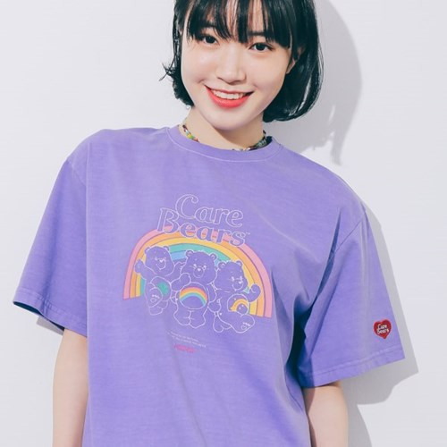 [7/13예약] RONRON TRIPLE BEARS T-SHIRT PIGMENT PURPLE