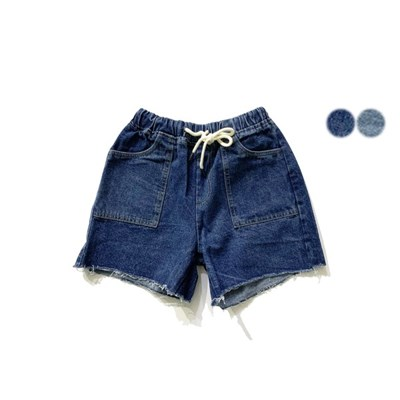 빈티지 컷팅 데님 쇼츠 VINTAGE CUTTING DENIM SHORTS(2color)