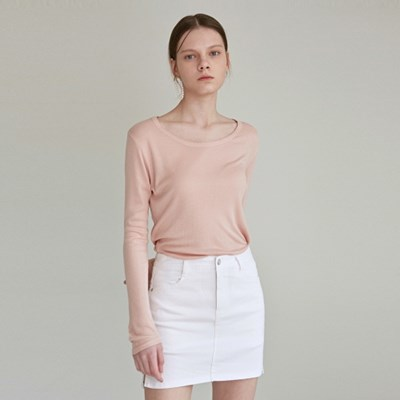 SOFT LONG BOATNECK_PINK