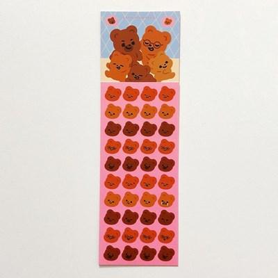 큐피드곰 가족 표정 스티커