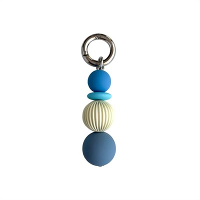 mini blue 2 keyring