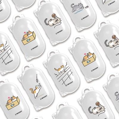 트라이코지 디자인 버즈 클리어케이스 냥이의하루_(1294470)