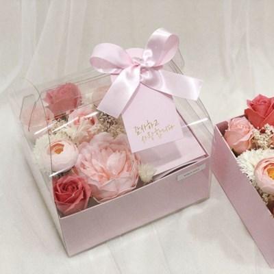 프리저브드&비누꽃 카네이션 핑크 용돈박스