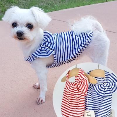 린슬리브 강아지여름옷 (얇고 시원한 소재 슬리브티)