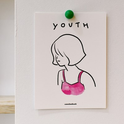 [카멜앤오아시스] Youth - Pink Bikini 청춘 소녀 엽서