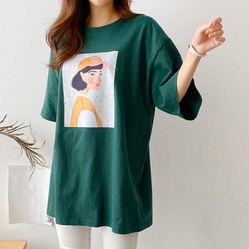 [모어댄베러]와일드걸 오버핏 티셔츠