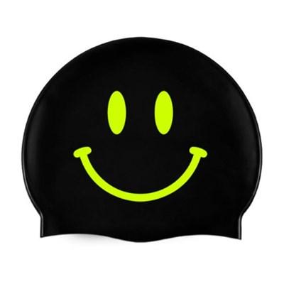 Smile Swimcap Black&Neon yellow