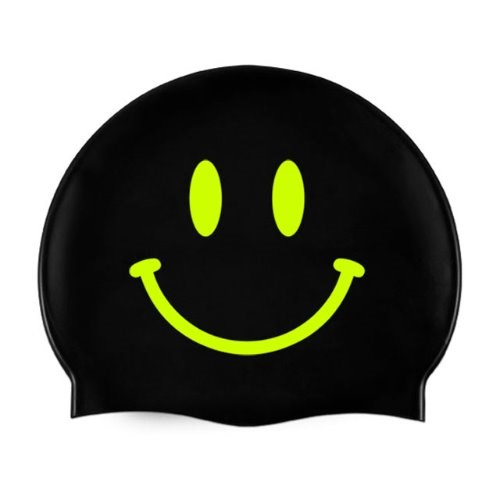 Smile Swimcap Black&Neon yellow