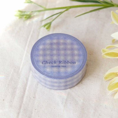 Check Ribbon Masking Tape [Pale Purple]