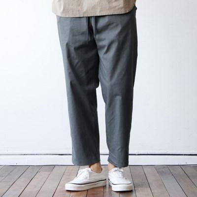 린넨 베이직 남자 여름 스판 팬츠 밴딩 와이드 슬랙스 6color