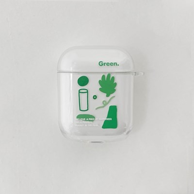 AIR POD CASE. GREEN