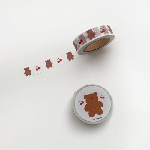 마스킹테이프 cherry slow bear