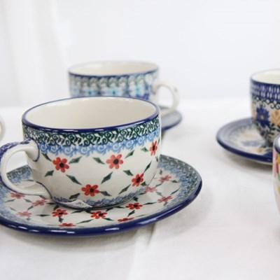 리넥 폴란드명품그릇, 티잔&소서 예쁜컵 컵받침