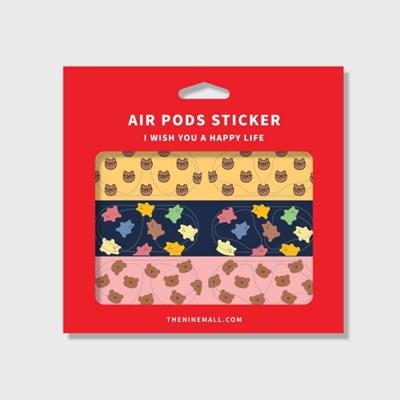 패턴 bear 에어팟 철가루 방지스티커