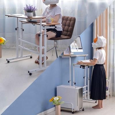 OMT 앉거나 서서일하는 높이 각도조절 일자형책상 3color_(1523338)