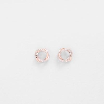 [쥬디앤폴] 실리 더블 라인 트위스트 귀걸이 E51417