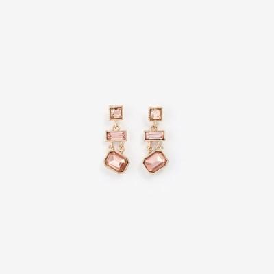 [쥬디앤폴] 엘린 트리플 스퀘어 크리스탈 드롭 귀걸이 E50992
