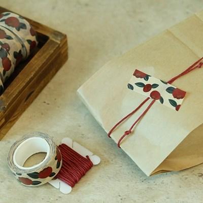 [모모마테] 제주 붉게 물든 동백꽃 마스킹테이프_(1809440)