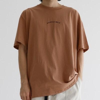SC 프린트 남자 반팔 티셔츠 남녀공용 박스티 3color
