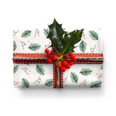 크리스마스 리스 포장지 (2장)