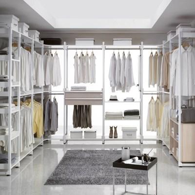 시스템 드레스룸 ㄷ자형 2단옷봉 바지걸이 CE901_(769267)