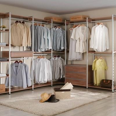 에든가구 ㄱ자 시스템 드레스름 서랍 선반 옷봉 ep620_(769174)