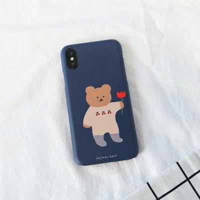 꽃을든곰(네이비) 219 아이폰/LG 폰케이스&스마트톡