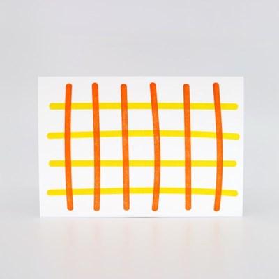 오렌지 피크닉 레터프레스 엽서