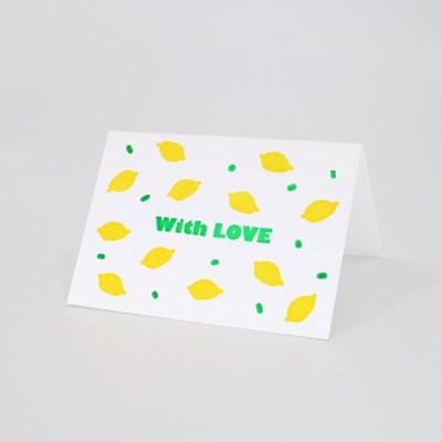 Lemon Punch 레몬펀치 레터프레스 미니카드