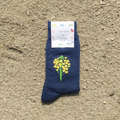 [Organic cotton] Jeju artye Rape Flower (navy)