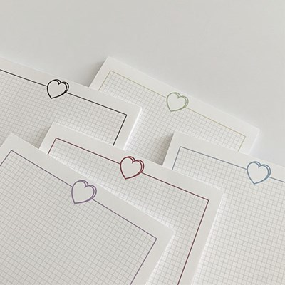 B5 heart memo pad (a)