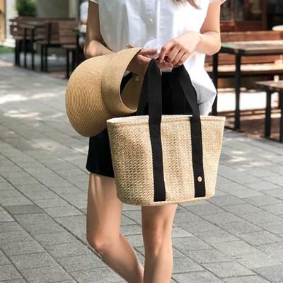 Bonjour Rattan cooler bag_L