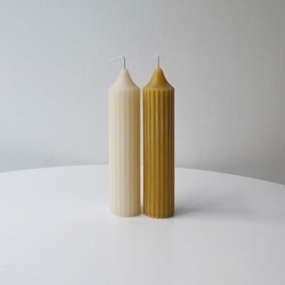 [Honey Bees Candle] 스트라이프 밀랍초