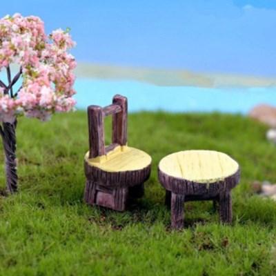 테라리움 꾸미기 테이블과 의자set