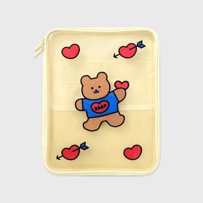Bear heart-ivory(PVC 파우치)_(1559973)