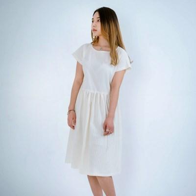 Kate Dobby Pigment Dress Light Beige