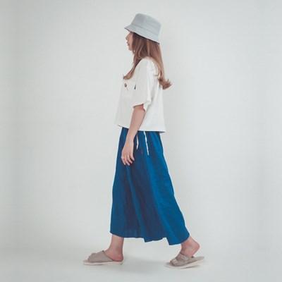 Joy Wide Wide Linen Pants Classic Blue